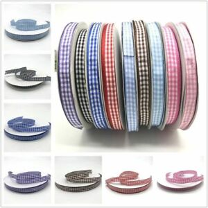Ribbon Plaid Grid Printed For Home Wedding Christmas Decoration Gift Wrapping