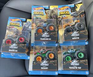 Hot Wheels Jurassic World Monster Trucks 2021 Complete Set of 5