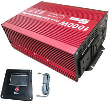 1000W (2000W Peak)  DC12V AC 240V PURE SINE WAVE POWER INVERTER WITH  DISPLAY