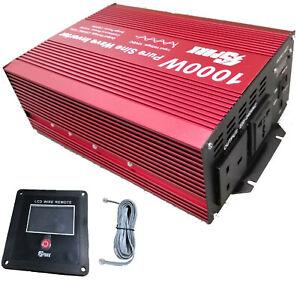 1000W (2000W Peak)  DC12V AC 240V PURE SINE WAVE POWER INVERTER WITH  DISPLAY