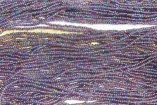 Black Lined Light Amethyst 11/0 Czech Glass Seed Beads/ Hank
