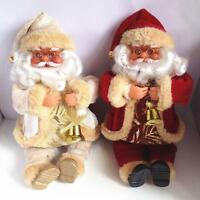Santa Claus Cute Sitting Christmas Gift Toy Doll Flannel Home Xmas Decor