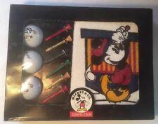 DISNEY Mickey Mouse Golf Gift Set by CLUB de GOLF Balls Towel Tee