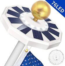 New listing Solar Powered 111 Led Flag Pole Light Night Super Bright Flagpole Waterproof 5A
