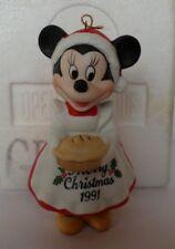 Grolier Christmas Ornament  Disney Minnie Mouse Porcelain 1991