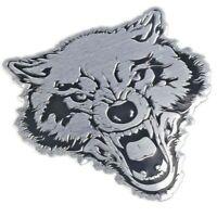Wolf 3D Aufkleber Sticker Auto Motorrad Tuning Tigerkopf Emblem Chrom Hund Löwe