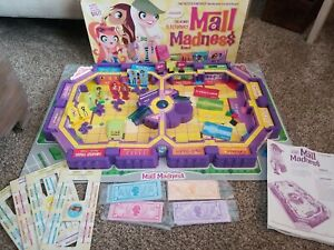 Vintage Mall Madness Electronic Board Game Milton Bradley -  Works/ready to play