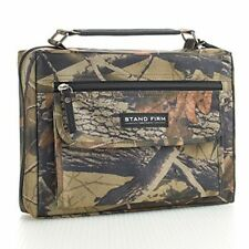 Bible Book Cover Case Bag Organizer With Handle Camouflage Canvas Zipper Large