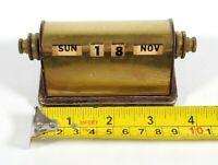 Park Sherman Co., Brass, Desk Calendar, Made in Springfield Ill., Antique
