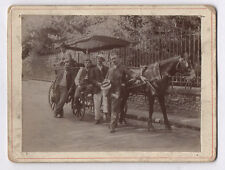 PHOTO ANCIENNE Voiture à cheval Attelage Promenade Transport Vers 1900 Calèche