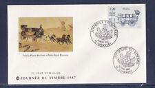 enveloppe 1er jour   journée du timbre   73  Chambery     1987