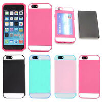 Hybrid Shockproof Card slot  Hard Rugged Cover Case For Apple iPhone 6  6s Plus
