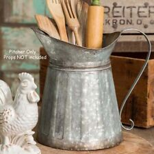 Metal Milk Pitcher - Rustic Farmhouse / Country / Vintage Look - Utensil Holder