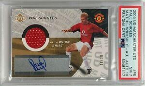 2003 Upper Deck Manchester United Paul Scholes Auto 18/18 Jersey Number PSA 7 NM