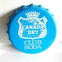 "1960s Canada Dry Club Soda Plastic Serving Tray Bottle Cap 13.5"" FREE SH"