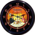 """Dawsons Dawson's New Bedford MA Beer Tray Wall Clock Ale Lager Brew Pub New 10"""""""