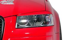 RDX Scheinwerferblenden AUDI A3 8P / 8PA Sportback Böser Blick Blenden Spoiler