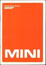 LIBRETTO USO E MANUTENZIONE AUSTIN MINI CITY, BERLINA HL, CLUBMAN - 1982