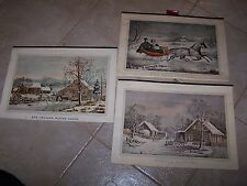 Currier and Ives Prints Traveler's Insurance Calenders 1941 '42 &'43? 36 total