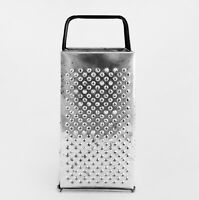 "Vintage BROMWELL Metal BOX CHEESE GRATER Shredder 9"" Rustic Retro USA"