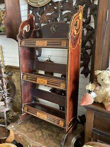 Antique Art Nouveau, Aesthetic Movement Book Shelf, 3 Tier Book Trough
