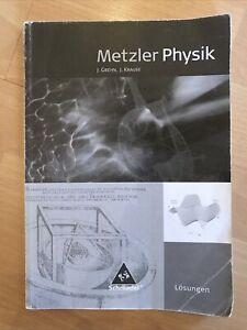 Metzler Physik SII. Lösungen (2009, Taschenbuch)