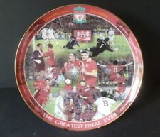 "DANBURY MINT LARGE 12 INCH LIVERPOOL FC PLATE ""THE GREATEST FINAL EVER"" MAY 2005"