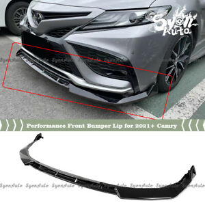 FITS 2021+ TOYOTA CAMRY SE & XSE PERFORMANCE STYLE GLOSSY BLACK FRONT BUMPER LIP