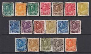CANADA 1911-25 MINT H SC #104-22 KGV ADMIRAL SET CAT $1082