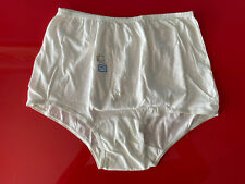 Vintage Granny Panties Cream Color Embroidered 100% Cotton Dream Girl NOS Size 9