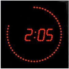 LED Orologio parete Rosso Rotondo Temperatura Sveglia. RIDUZIONE LUMINOSITA'