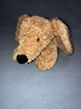 """Carter's Dog Gone Cute 9"""" Blue Suede Collar Stuffed Animal Brown Tan Puppy"""