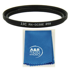 JJC RN-DC58E 58mm Filter Lens Adapter Ring Fr Canon G1X Mark II Replace FA-DC58E