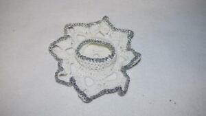 Kerzenständer für ein Teelicht aus Stoff gehäkelt Weihnachten Deko