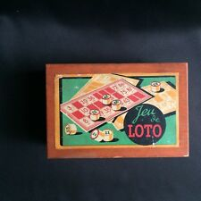 Jeu de loto ancien années 40 / French Bingo game box from the 50's