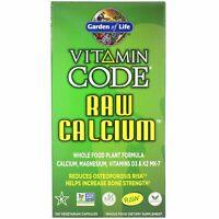 Garden of Life  Vitamin Code  RAW Calcium  120 Vegetarian Capsules