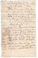 c1500 manuscript document with large oncial caps damaged red ink authentic