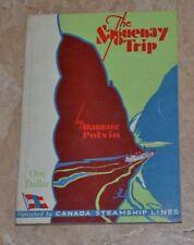 The Saguenay Trip Damase Potvin 1946 Canada Steamship Lines