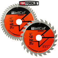 WellCut Extreme TCT Saw Blade 190mm x 30mm Bore 24 & 48 Teeth For HS7601J, GKS65