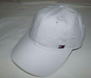 NWT MENS TOMMY HILFIGER BASEBALL CAP/HAT~WHITE W FLAG~OS
