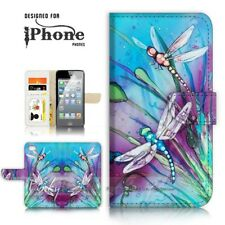 ( For iPhone 8 Plus ) Wallet Case Cover P21094 Dragonfly