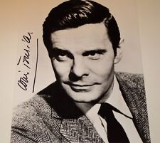 LOUIS JOURDAN /  8 X 10  B&W  AUTOGRAPHED  PHOTO