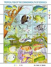 👉 DOMINICA 1990 Tropical FISH M/S MNH MARINE LIFE