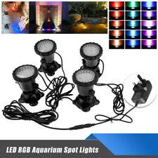 1Set 4PCS LED Lights RGB Underwater SpotLight Aquarium Garden Fountain Pool Pond