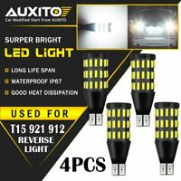 4X AUXITO T15 921 912 White LED BackUp Reverse Light Bulbs For Subaru Hyundai EA