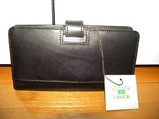 NEW Cutter & Buck Black Leather Envelope Wallet Nwt