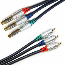 5M HD Component Video Cable Extension - Gold Male to Female Lead - RGB YPbPr