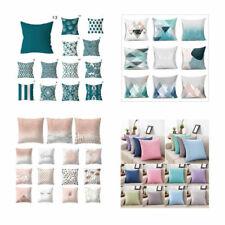European Blue Green Soft Pillowcase Printing Sofa Cushion Covers Home Decoration