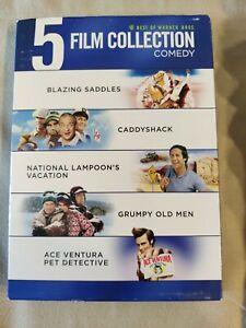 5-Film Collection: COMEDY (DVD, 2013, 5-Disc Set) **Rare** BLAZING SADDLES