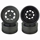 DE Racing Speedway SC Wheels Traxxas Slash Rear 21.5mm Backspacing Black